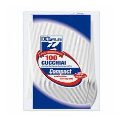 CUCCHIAI PLASTICA X 100